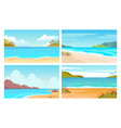 beach sea landscapes tropical seascapes with vector image