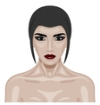 Beauty Woman with dark red Lips and big Eyes vector image vector image