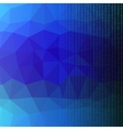 Binary Code Blue Polygonal Background vector image vector image