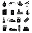 Bio fuel icons set vector image vector image