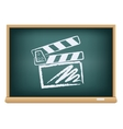 board cinema clapper board vector image