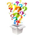 box with question mark icons vector image vector image