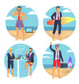 business summer businessman vector image vector image