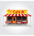 Cafe building isolated
