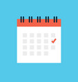 calendar icon graphic appointment flat vector image