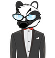 cartoon of the wildlife badger in fashionable suit vector image vector image