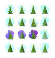 christmas tree in different styles set of vector image vector image