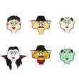 Comic characters people and monsters vector image