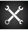 Crossed wrench icon vector image vector image
