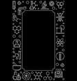 dark chemical vertical line banner or frame vector image vector image