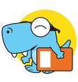 Dino Bring Book vector image vector image
