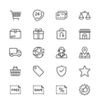 E-commerce thin icons vector image vector image