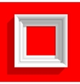 Empty Picture Frame on Red Background vector image vector image