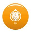 fig icon orange vector image vector image