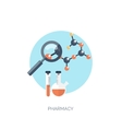 Flat medical and chemical vector image vector image