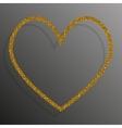 Frame Gold Sequins Heart Glitter sparkle vector image vector image