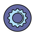 gear machinery isolated icon vector image vector image