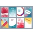 Geometric business templates for brochure flyer vector image vector image