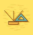 Geometric instruments school vector image