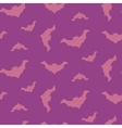 Halloween flying bats seamless pattern vector image vector image