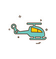 helicopter icon design vector image