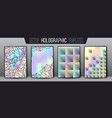 holographic gradient templates ornament vector image vector image