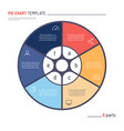 Infographic circle chart template six