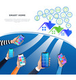 iot or internet of things concept smart home vector image vector image