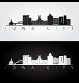 iowa city usa skyline and landmarks silhouette vector image vector image