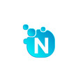 letter n bubble logo template or icon vector image vector image