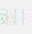 marble pastel colors texture set patterns vector image