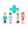 medical team doctor nurse assistant vector image