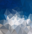 mountain gray blue abstract polygon triangular vector image vector image
