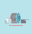 mri scanner machine technology and diagnostics vector image vector image