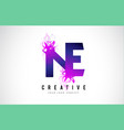 ne n e purple letter logo design with liquid vector image vector image