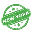 New York green stamp vector image vector image