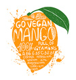 Of Isolated Colorful Mango Silhouette vector image vector image