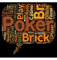 online poker game card 1 text background wordcloud vector image vector image