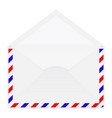 open white envelope 3d vector image