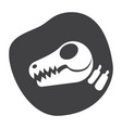 paleontology icon vector image