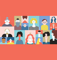 people avatar face icons set stylized portraites vector image