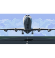 plane takes off from the runway vector image