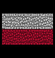 poland flag pattern of fortress tower icons vector image