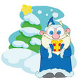 santa claus of santa claus with gift vector image vector image