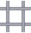 seamless pattern with crossing lines vector image