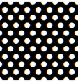 Seamless polka dot pattern with blurred circles vector image