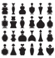 Set of different type of perfume bottles vector image vector image