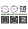 Set of Floral Summer Greeting Cards Design vector image vector image