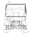 small street clean truck concept vector image