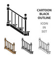 stairs icon in cartoon style isolated on white vector image